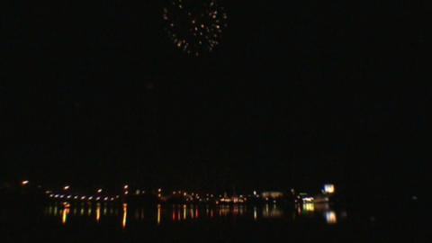 Fireworks show 1 Stock Video Footage