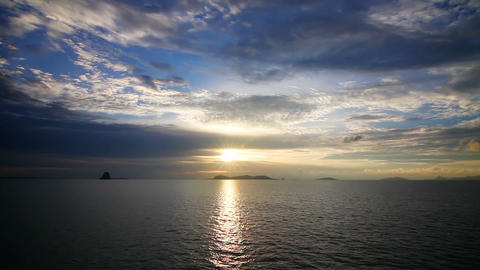 Sunset over sea loop Stock Video Footage