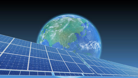 Solar Panel Earth A3B HD Animation