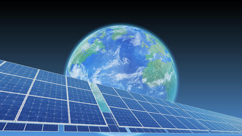Solar Panel Earth A3B HD Stock Video Footage