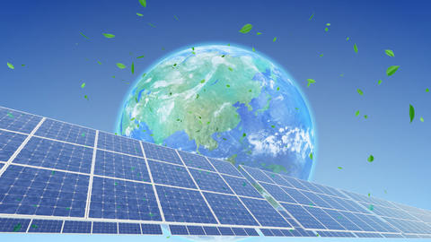 Solar Panel Earth A3G1 HD Stock Video Footage