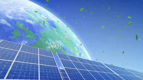 Solar Panel Earth B3G1 HD Stock Video Footage