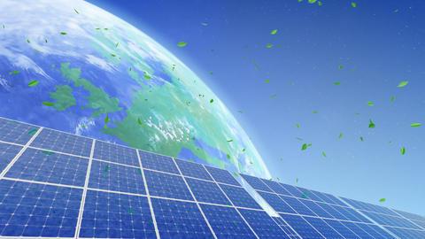 Solar Panel Earth B3G1 HD Stock Video Footage