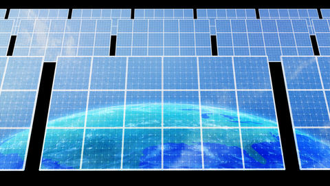 Solar Panel Earth D3C HD Stock Video Footage