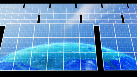 Solar Panel Earth D3C HD Animation
