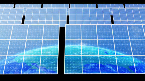 Solar Panel Earth D3C HD Stock Video Footage