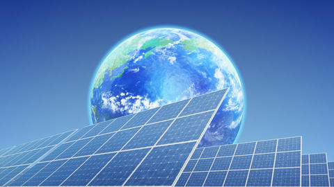 Solar Panel Earth E3B HD Stock Video Footage