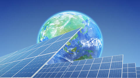 Solar Panel Earth E3B HD Animation
