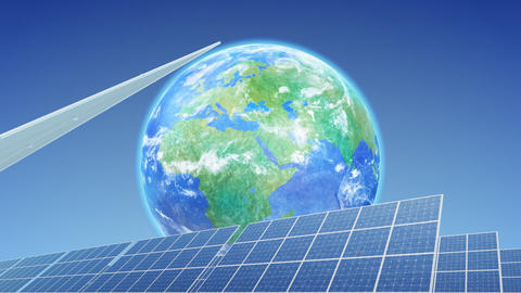 Solar Panel Earth E3B HD Stock Video Footage