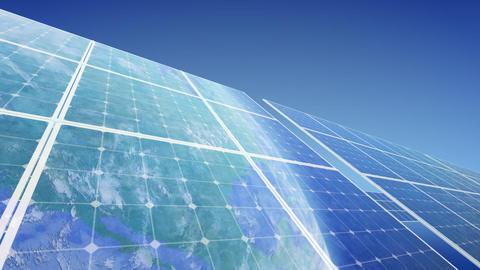 Solar Panel Earth F3B HD Stock Video Footage