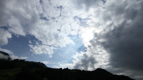 Fantastic Clouds Timelapse 02 godrays Stock Video Footage