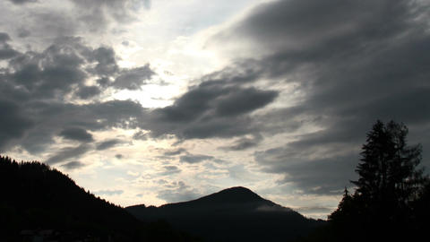 Fantastic Clouds Timelapse 04 godrays Stock Video Footage