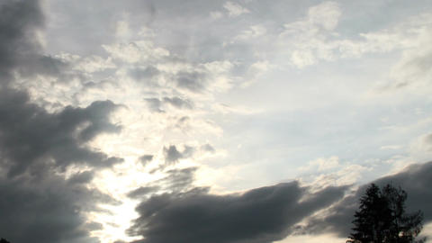 Fantastic Clouds Timelapse 06 godrays Stock Video Footage