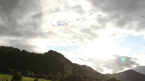 Fantastic Clouds Timelapse 08 godrays Stock Video Footage