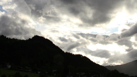 Fantastic Clouds Timelapse 10 godrays Stock Video Footage