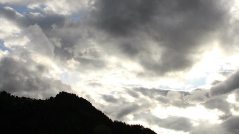 Fantastic Clouds Timelapse 12 godrays Stock Video Footage