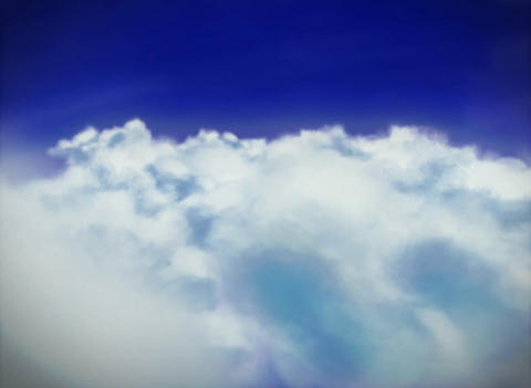 2d style cloud Stock Video Footage