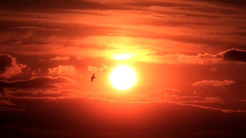 Cloudy sunset Stock Video Footage