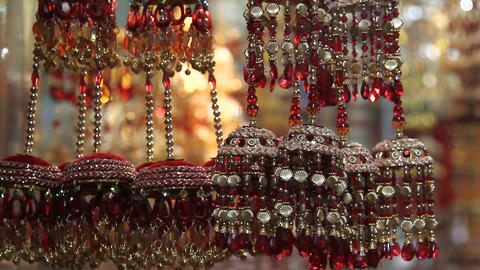 Indian jewelry shop Stock Video Footage