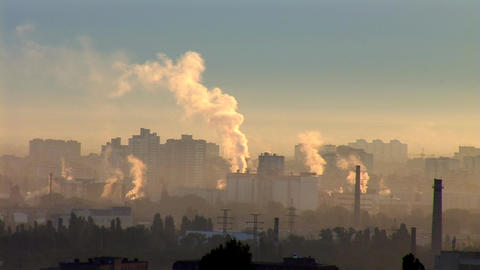 sunrise smog Stock Video Footage