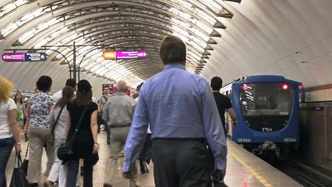 Sadovaya, train leaves, St. Petersburg, Russia Stock Video Footage