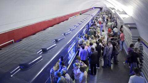 Nevsky Prospekt, entering, St. Petersburg, Russia Stock Video Footage