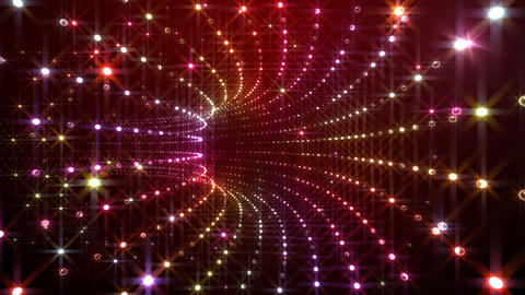 Disco Tunnel C1BA1 HD Stock Video Footage