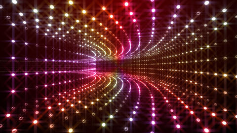 Disco Tunnel P1BA1 HD Stock Video Footage