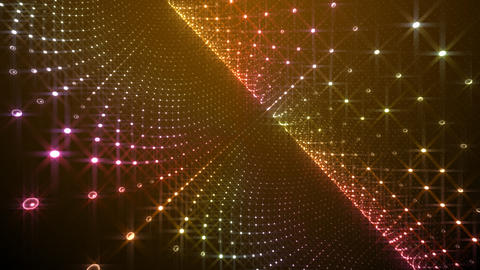 Disco Tunnel W1BC1 HD Stock Video Footage