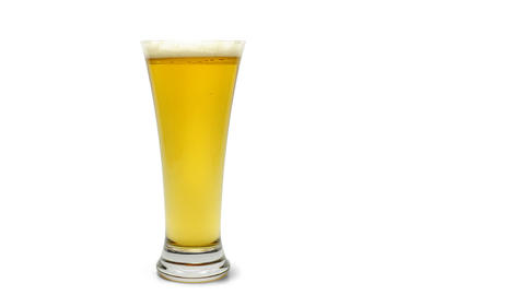 Beer Glass Emptying Stock Video Footage