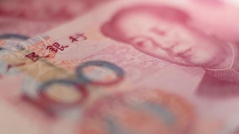 Chinese Yuan close up Stock Video Footage