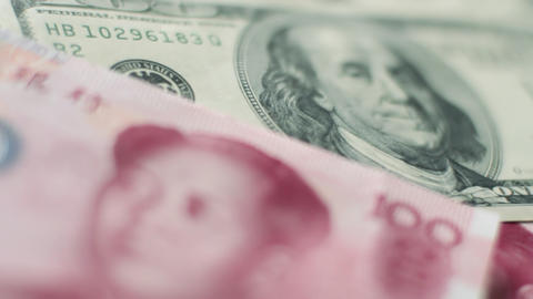 Chinese to US currency Footage