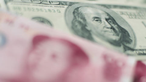 Chinese to US currency Stock Video Footage