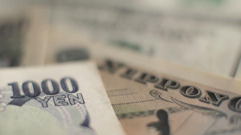 Yen to Dollars Stock Video Footage