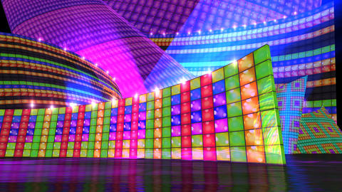 DJ disco stage HD special time extend Stock Video Footage