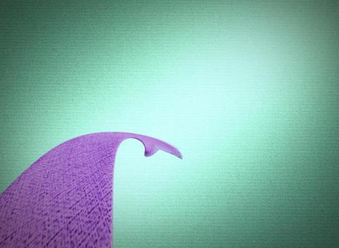 purple ribbon Stock Video Footage