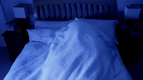 Restless Sleeper Stock Video Footage