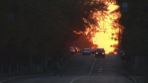 urban sunset 2 Stock Video Footage