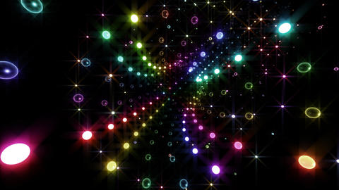 Disco Tunnel C2LC2 HD Stock Video Footage
