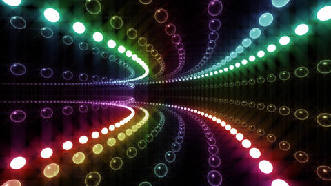 Disco Tunnel P2LA2 HD Stock Video Footage