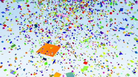 Color Paper Confetti Falling loop Stock Video Footage