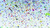 Color Paper Confetti Falling Loop stock footage