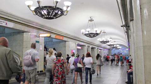 Vladimirskaya, people, St. Petersburg, Russia Stock Video Footage
