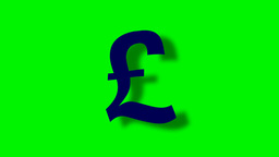 FLOATING POUND SIGN WITH SHADOW Animation