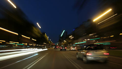 Barcelona Night City Drive Camera Car Road Rage Ti Live Action