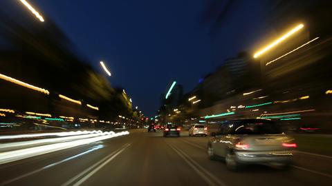 Barcelona Night City Drive Camera Car Road Rage Ti Footage