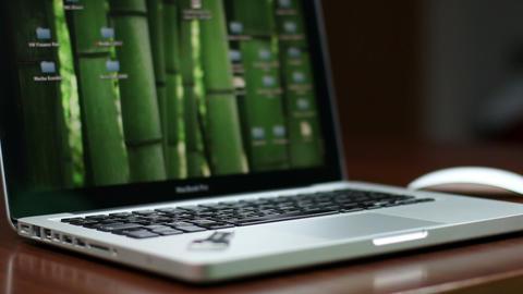 Laptop working Browsing Trackpad 動画素材, ムービー映像素材
