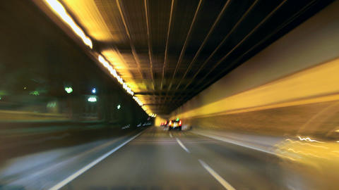 Road Rage Barcelona Night City Drive Camera Car Ti Footage