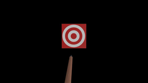 on target Stock Video Footage