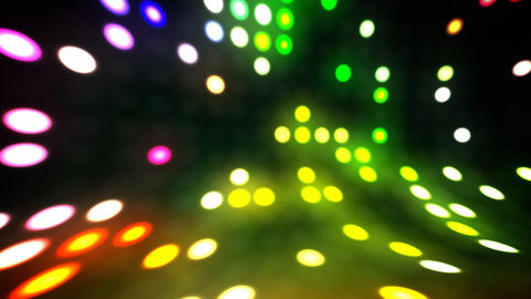 Disco lights scene loop Stock Video Footage
